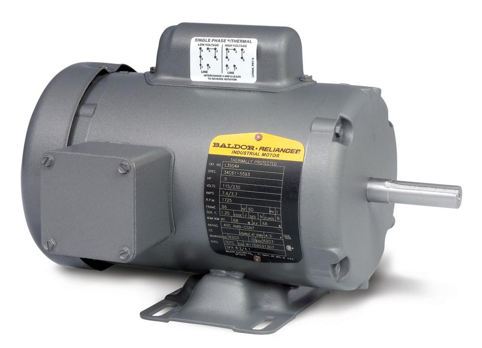 Baldor L3409M General Purpose Single Phase Motor - L3409M