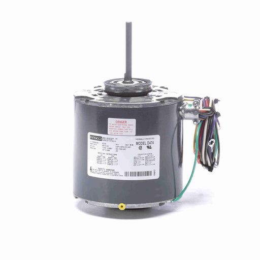 "Fasco D474 PSC (Permanent Split Capacitor) 5"" Diameter OEM Replacement Condenser Fan and Heat Pump Motor - D474"