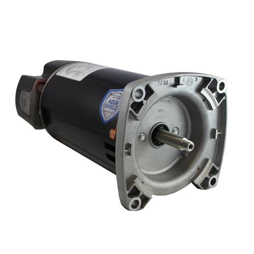 U.S. Motors ASQ165 1.65 HP 3450 RPM 230/115 Volt 48Y Frame Square Flange Pool and Spa Motor - ASQ165