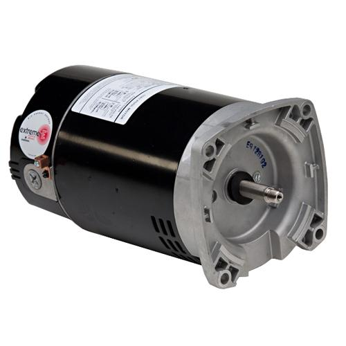 U.S. Motors EB859  PSC (Permanent Split Capacitor) Switchless Square Flange Pool and Spa Pump Motor - EB859