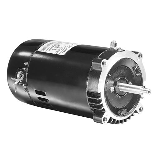U.S. Motors EUSQ1202  Capacitor Start, Capacitor Run OEM Replacement Switched Square Flange Pool and Spa Pump Motor - EUSQ1202