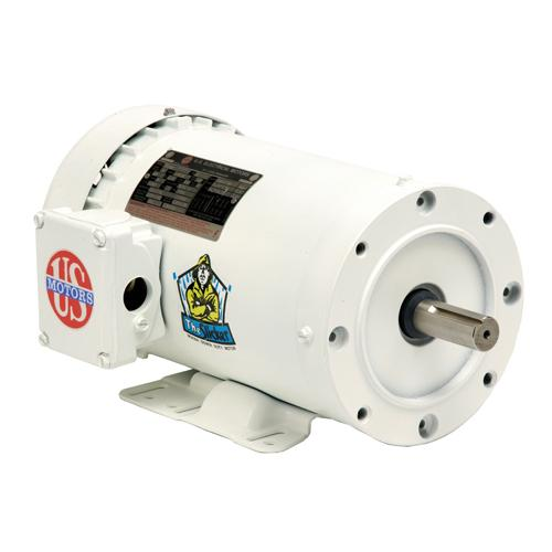 U.S. Motors 3 Phase Washdown Duty Motor - WD1P2AC