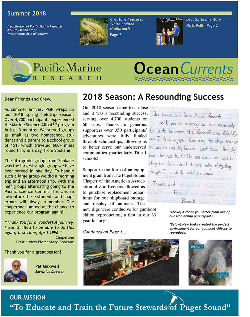 Summer 2018 Newsletter