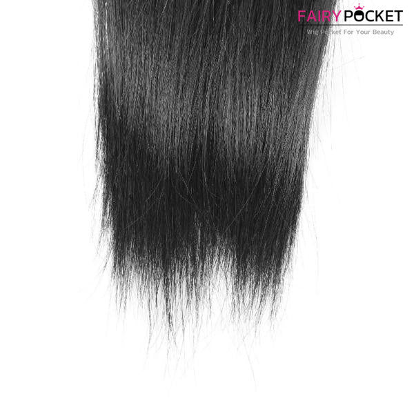 3 Bundles Straight Indian Remy Hair Weave Fairypocket Wigs