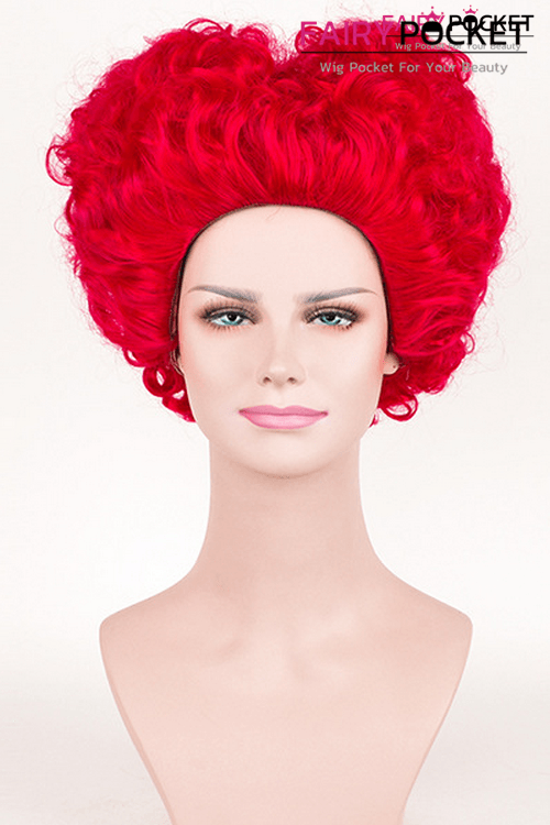 Alice in Wonderland the Red Queen Anime Cosplay Wig