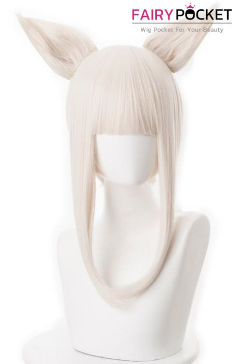Arknights Platinum Cosplay Wig (Include Ears)