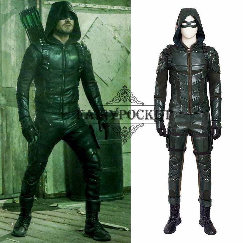 Arrow Season 5 Oliver Queen Cosplay Costume