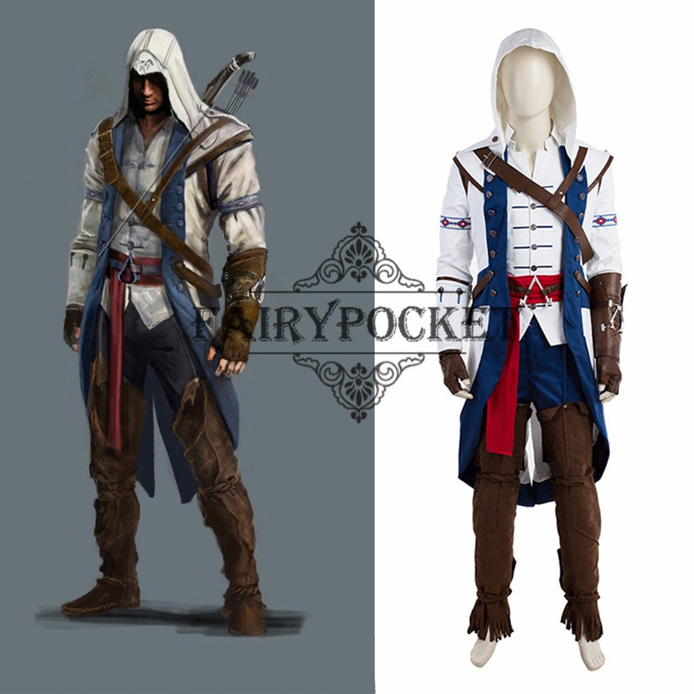 Assassin S Creed Connor Cosplay Costume Fairypocket Wigs