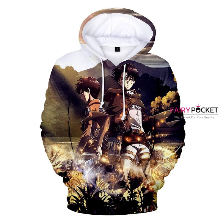 Attack On Titan Eren Jager & Levi Ackerman Hoodie