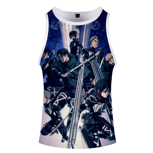 Attack on Titan Anime Tank Top - D