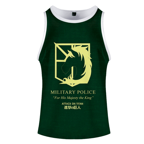 Attack on Titan Anime Tank Top - L