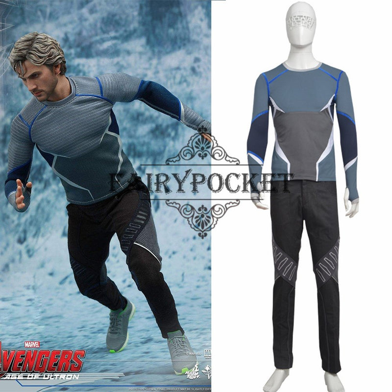 Avengers: Age of Ultron Quicksilver Cosplay Costume