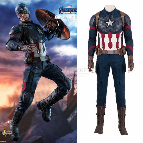 Avengers: Endgame Captain America Cosplay Costume
