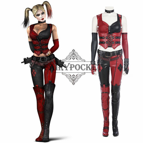 Batman: Arkham City Harley Quinn Cosplay Costume