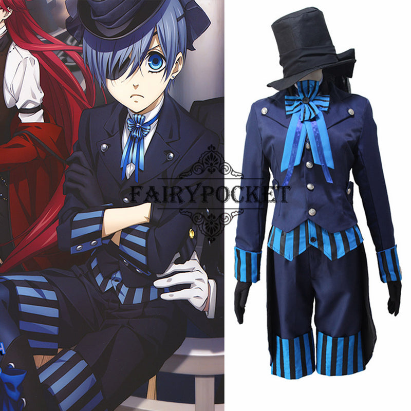 Black Butler: Book of the Atlantic Ciel Phantomhive Anime Cosplay Costume