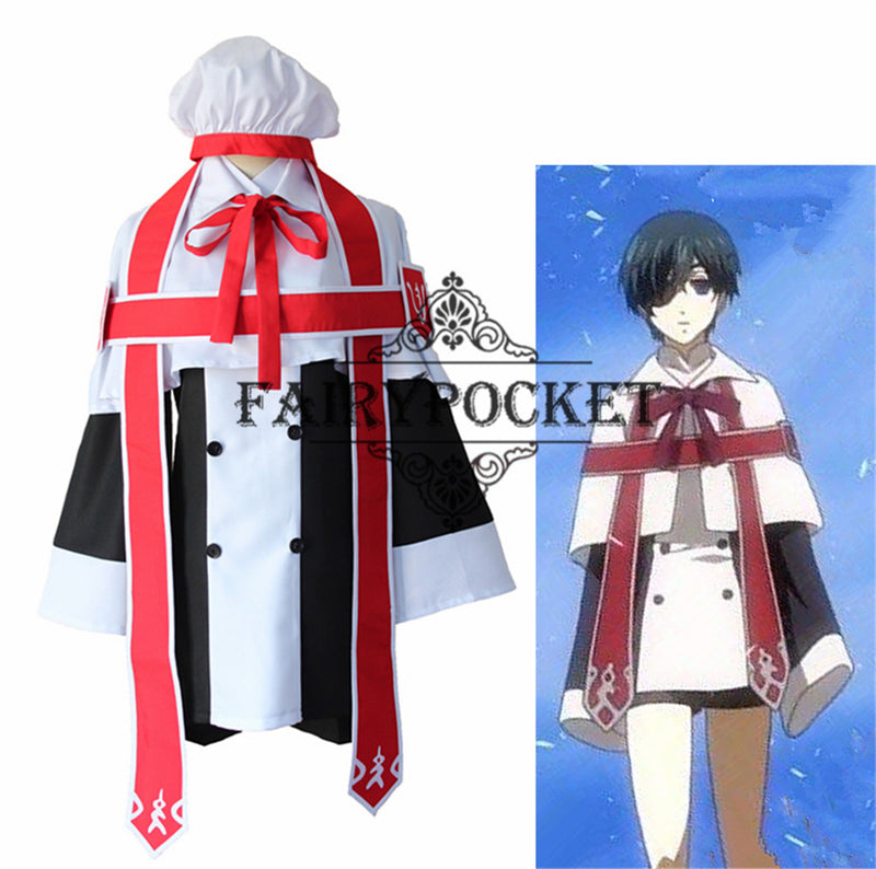 Black Butler Ciel Phantomhive Anime Cosplay Costume - Church