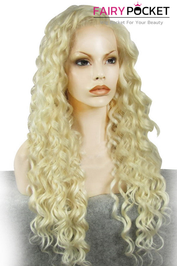 Blonde Long Curly Lace Front Wig