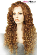Gorgeous Chocolate Brown Long Curly Lace Front Wig