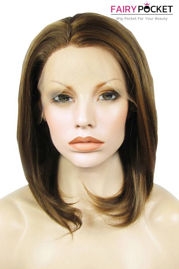 Saddle Brown Medium Straight Lace Front Wig