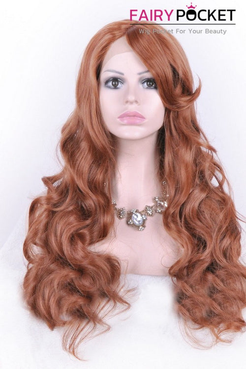 Cool Chocolate Brown Long Wavy Lace Front Wig