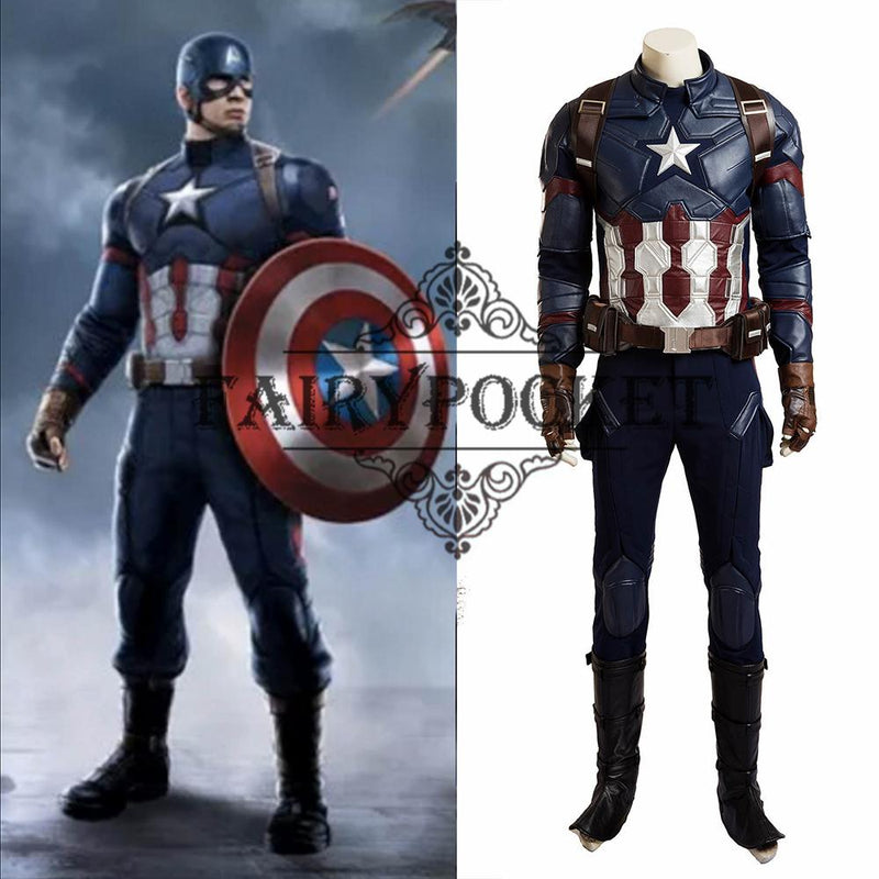 Captain America: Civil War Steve Rogers Cosplay Costume