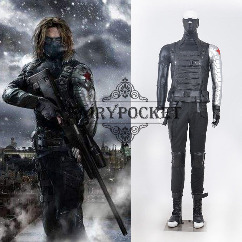 Captain America: The Winter Soldier Bucky Barnes Cosplay Costume