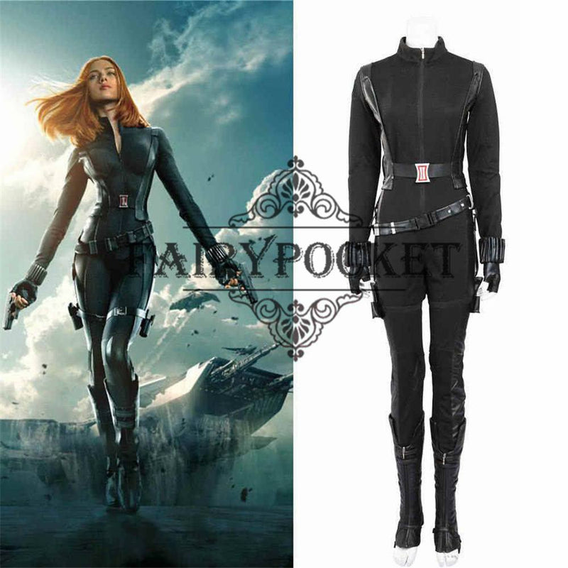 Captain America: The Winter Soldier Natasha Romanoff Cosplay Costume