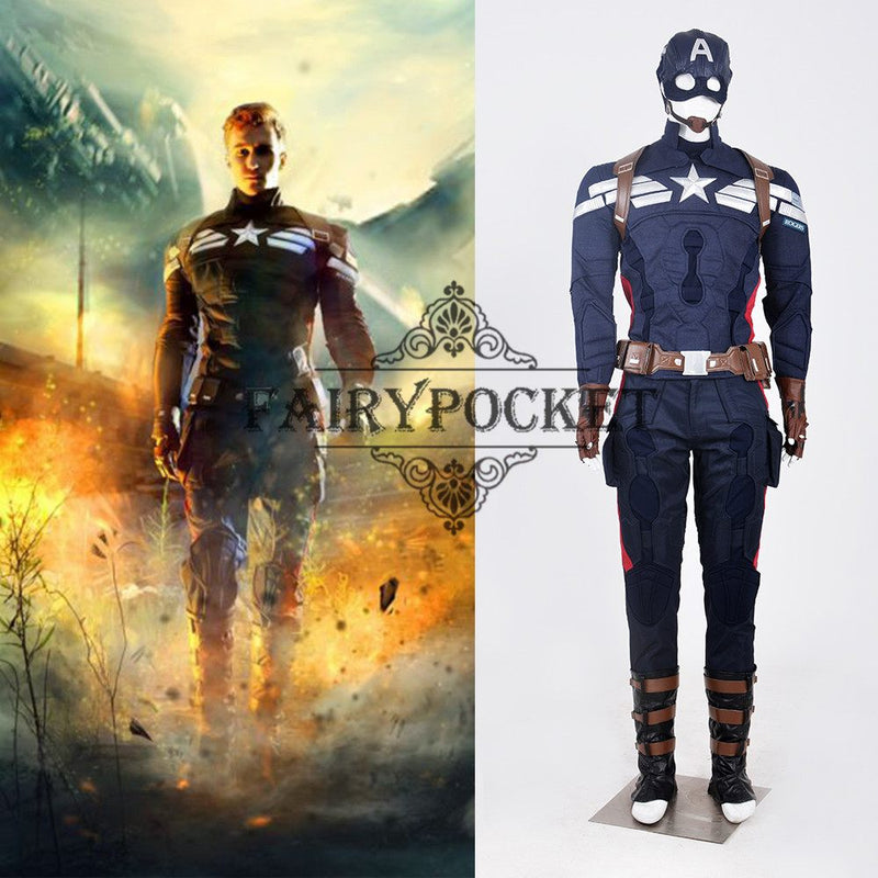 Captain America: The Winter Soldier Steve Rogers Cosplay Costume