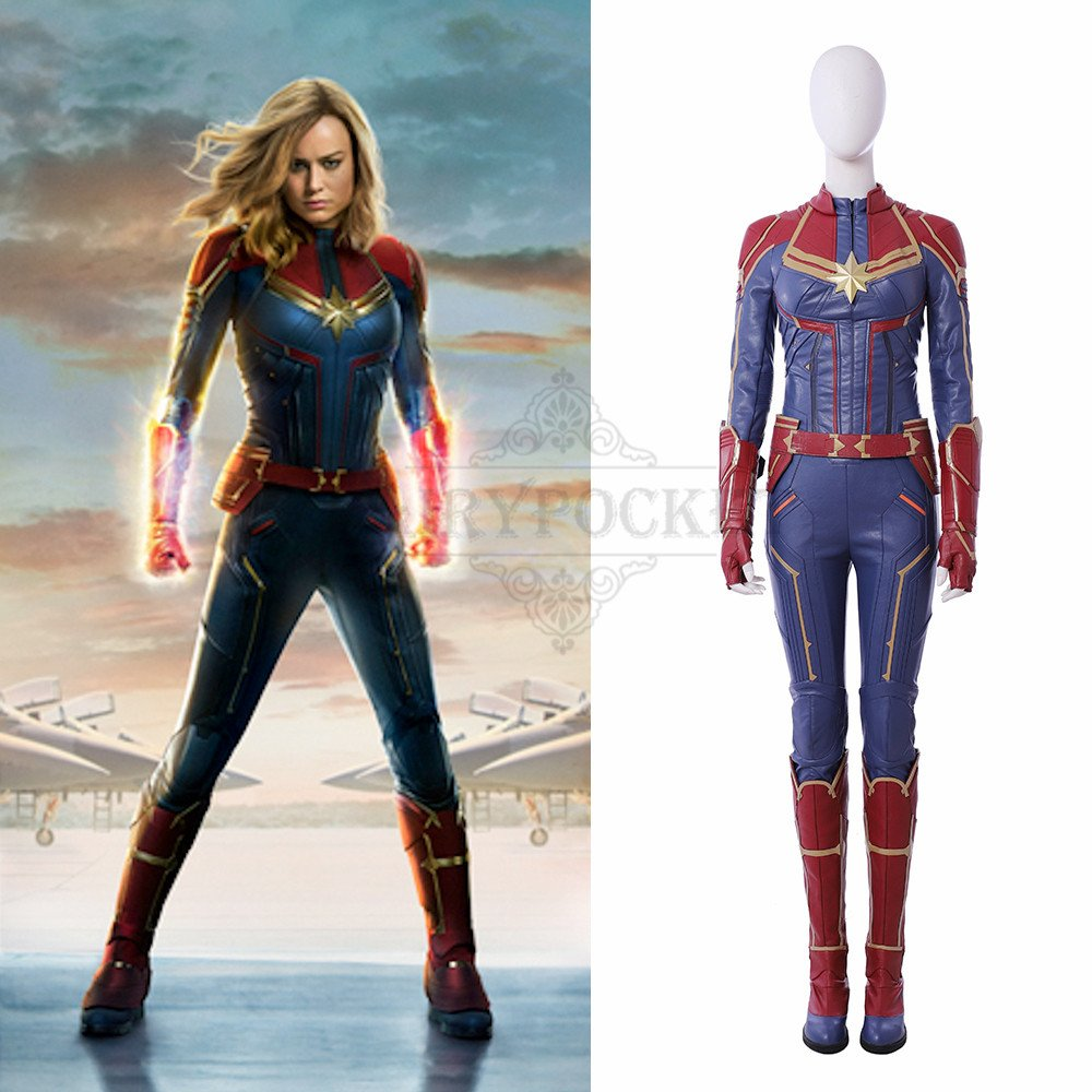 captain marvel carol danvers cosplay costume - b – fairypocket wigs