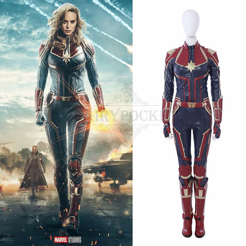 Captain Marvel Carol Danvers Cosplay Costume - A