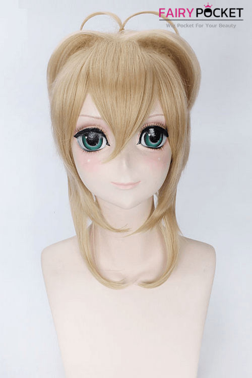 Cardcaptor Sakura Sakura Kinomoto Anime Cosplay Wig - Light Blonde