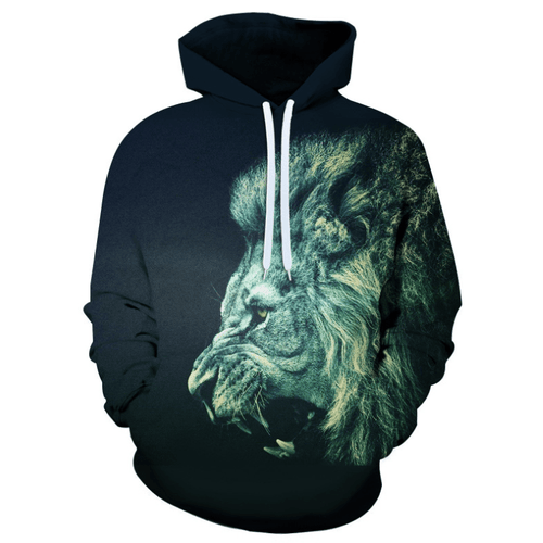 Cool Lion Animal Hoodie - B