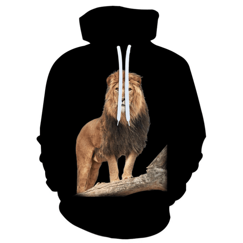 Cool Lion Animal Hoodie - C