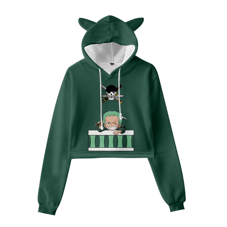 Cute One Piece Cat Ear Hoodie - U