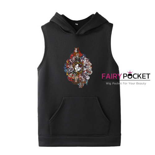 Danganronpa Sleeveless Hoodie (5 Colors) - E