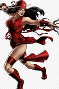 Daredevil Elektra Natchios Anime Cosplay Wig