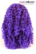 Dark Orchid Purple Long Curly Lace Front Wig