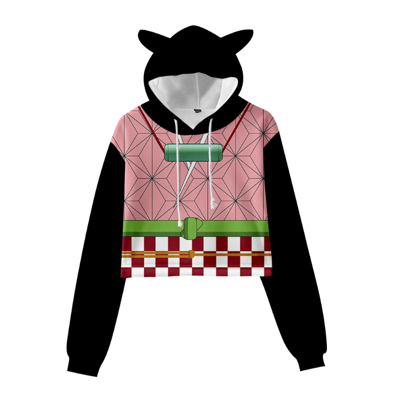Demon Slayer Cat Ear Hoodie - E