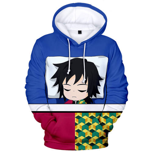 Demon Slayer Kimetsu no Yaiba Tomioka Giyuu Anime Hoodie