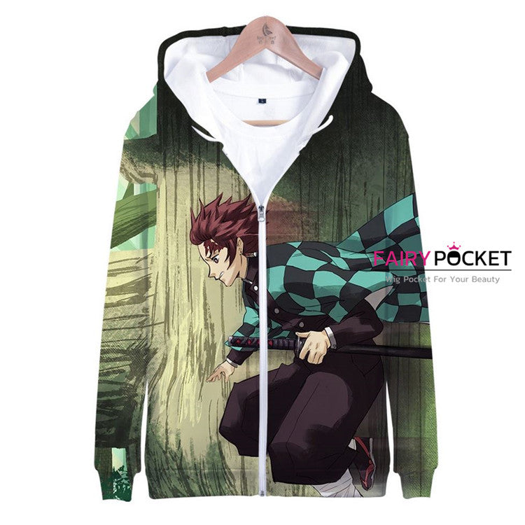 Demon Slayer: Kimetsu no Yaiba Kamado Kamado Tanjirou Jacket/Coat - D