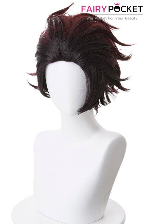 Demon Slayer: Kimetsu no Yaiba Kamado Tanjirou Cosplay Wig