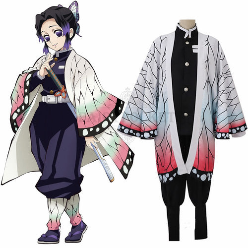 Demon Slayer: Kimetsu no Yaiba Kochou Shinobu Cosplay Costume
