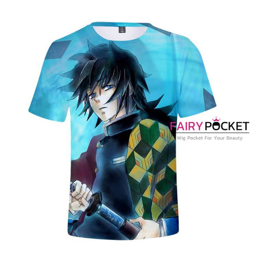 Demon Slayer: Kimetsu no Yaiba Tomioka Giyuu T-Shirt - B