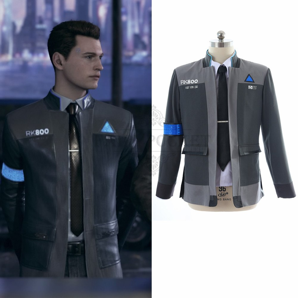 Detroit Become Human Connor Cosplay Costume Fairypocket Wigs
