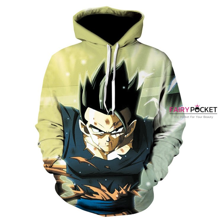 Dragon Ball Light Green Hoodie