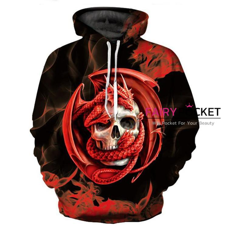 Dragon and Skull Hoodie