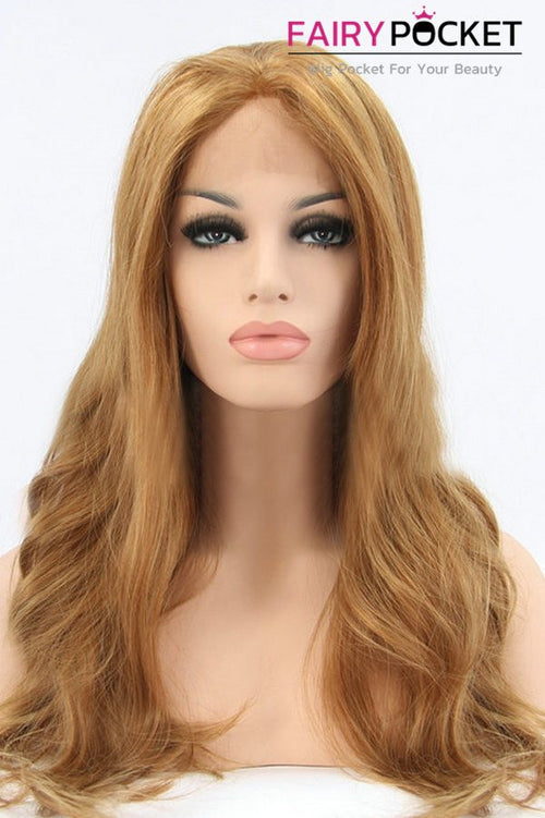 Sandy Brown Long Wavy Lace Front Wig