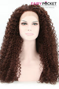 Saddle Brown Long Curly Lace Front Wig
