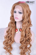 Honey Brown Long Wavy Lace Front Wig