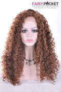 Chocolate Brown Long Curly Lace Front Wig